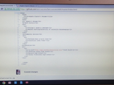 HTML for Angela's resume