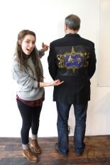 Artist Jordan Lanham and participant Steve Huey